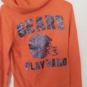 NFL Chicago bears hoodie womens xs vs pink